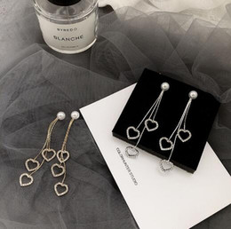 $enCountryForm.capitalKeyWord Australia - Exquisite design fashion Earring long style heart shape inlay full diamond very beautiful free shipping PE-0015