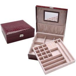 $enCountryForm.capitalKeyWord UK - New Leather Jewelry Box Gift Box Jewelry Packaging Display Large Women Makeup Case Luxury Earring Ear Nail Storage Organizer Hot
