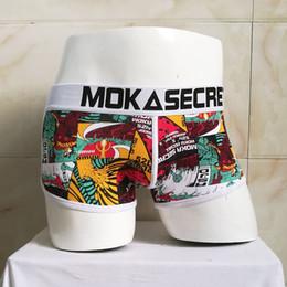 $enCountryForm.capitalKeyWord Australia - Graffiti Print Artistic Boxers Wide-belt Combed Cotton Sexy Underwear Non-mainstream Devil Men Underpant Male Panties C19040401
