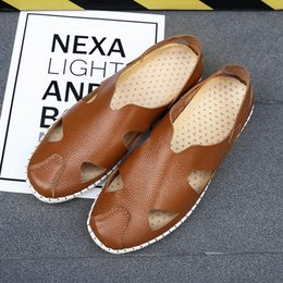 Beach Shoes 47 Australia - High Quality Mens Leather Sandal Summer Genuine Leather Mens Sandals Fashion Casual Sandals Slippers Beach Male Water Shoes Size 35-47