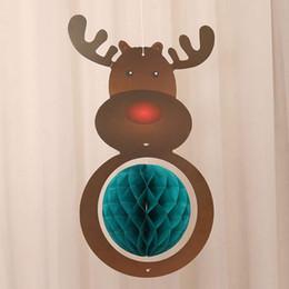$enCountryForm.capitalKeyWord Australia - New Christmas Tree Paper Hanging Craft Christmas Ornament Deer Hat Tree Paper Art Pendant For Drop Ornaments