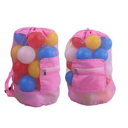 $enCountryForm.capitalKeyWord Australia - Beach Bag Portable Sand Dig Tool Storage Mesh Bag Outdoor Kids Folding Oversized Backpack Pink Black Blue FT35