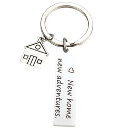 $enCountryForm.capitalKeyWord Australia - New Home New Adventures Keychain House Keys Keyring Moving Together First Home Funny Key Chains Housewarming Gift for Her or Him