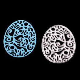Embossing diE online shopping - Egg Decoration Metal Cutting DIY Dies Scrapbooking Embossing Easter Painted Clear Stamps Paper Craft Dies IIA194
