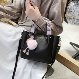 cell phone hanging pocket NZ - 2019 ins high quality design ladies shoulder bag handbag fashion PU leather ostrich animal hanging bag 3 color free shipping
