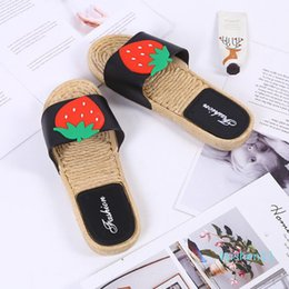 housing c Canada - slippers women summer new fruit Badslippers Indoor slippers Zapatillas de mujer kapcie Flip Flops bathroom home house c l11