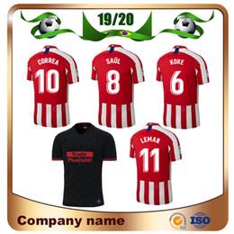 Jersey diego costa online shopping - 19 Madrid SAUL Soccer Jersey Home KOKE JOAO FELIX Soccer Shirt CORREA LEMAR DIEGO COSTA Football uniforms