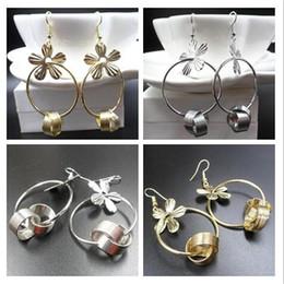 $enCountryForm.capitalKeyWord Australia - 2019 Hot sale alloy Flower ring Tassels Dangle Chandelier Earrings gold silver Exaggerated Pendant Earrings woman Fashion jewelry