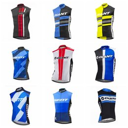 $enCountryForm.capitalKeyWord Australia - GIANT team Summer Cycling Jersey Sleeveless vest Full zipper tops Road Mountain bike essential bicycle clothing mens sport shirts Y61807