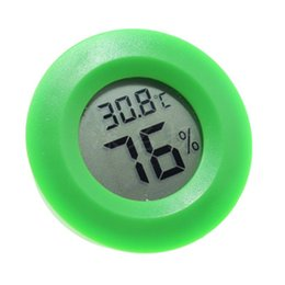 Digital Measurements Tools Australia - LCD Digital Thermometer Hygrometer Humidity Temperature Measurement Tool Round Electronic Mini Multi Color Stylish Home Pet Tool
