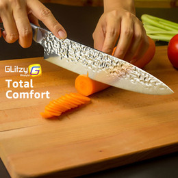 Santoku chef kniveS online shopping - Kitchen Knife Inch Professional Japanese Chef Knives cr17 c High Carbon Stainless Steel Meat Santoku Home Knife Dropshipping