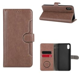 Wrist Strap Wallet Australia - Wallet Folio Flip PU Leather Case Protective Shell Magnetic Slim Back Cover Card Holder Slot Wrist Strap For iPhone XS Max XR XS Packaging