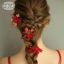 Hair Forks Australia - C160 honey twig handmade original bride hair insert bride hair fork European temperament flower bride hair accessories