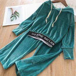 $enCountryForm.capitalKeyWord Australia - New velvet kids tracksuit fashion girls tracksuit sweat suit kids designer clothes girls hoodies+ trousers pants 2019 autumn winter A7296