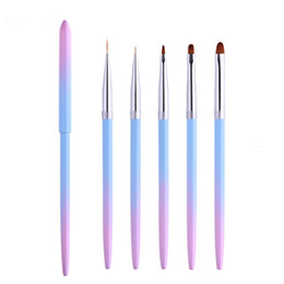 $enCountryForm.capitalKeyWord UK - Professional UV Gel Nail Art Brushes Liner Painting Pen Acrylic Drawing Brush Gradient Handle Manicure Nail Tools