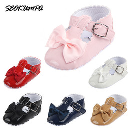 Toddler Girls Canvas Shoes Australia - Summer Baby Girls Baby Shoes Cute Newborn First Walker Shoes Infant Bow Princess Soft Sole Bottom Anti-slip Toddler