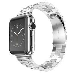 Опт Ремешок из нержавеющей стали для Apple Watch Ремешок Ссылка Браслет 38мм 42мм 40мм 44мм ремешки для часов Smart Watch Metal Band для серии iWatch 4 3 1/2