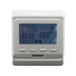thermostat controller Canada - Freeshipping LCD Weekly Programmable Floor Heating Temperature Regulator Controller Room Air Thermostat with Temperature Sensor