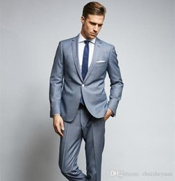 $enCountryForm.capitalKeyWord NZ - Custom Made Fashion Slim Fit Wedding Suits For Men One Button Grooms Tuxedo Two Pieces Cheap Prom Party Suit(Jacket+Pants+Tie)