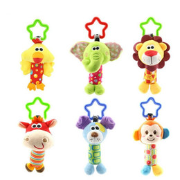 Soft Baby Hand Rattle Australia - Newborn Baby Kids Rattle Toys Cartoon Animal Plush Hand Bell Baby Stroller Crib Hanging Rattles Infant Baby Toys Gifts 35% off
