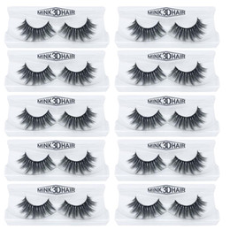 $enCountryForm.capitalKeyWord NZ - 10Pairs lot Mink Lashes 3D Mink False Eyelashes Long Lasting Lashes Natural Lightweight Eyelashes Glitter Packaging