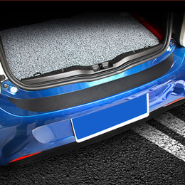 $enCountryForm.capitalKeyWord Australia - Carbon Fiber Printed Car Trunk Bumper Guard Cover Sill Plate Edge Guard Sticker for Smart forfour 2015 2016 2017 2018 Styling