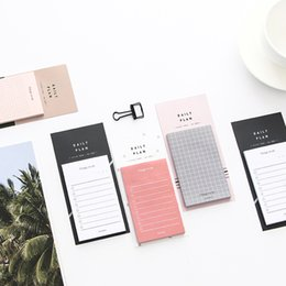 Wholesale 500Sheets Set Concise Grid NoteBooks Paper Sticky Notes Weekly Daily Planner Writing Pads Office School Supplies Stationery