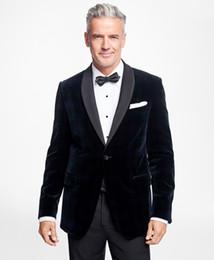 Beige Slim Suits For Men Australia - Corduroy Father Mens Suits 2019 Slim Fit Beach Groomsmen Wedding Tuxedos For Men Shawl Lapel Formal Prom Suit (Jacket+Pants +Bow)