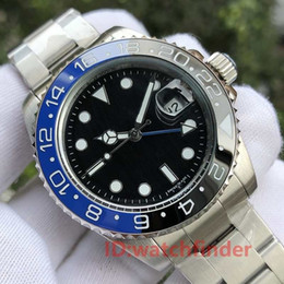 Cadran Jubilé Céramique Noir Bleu Bracelet Mécanique Automatique 2813 Gmt Hommes De Luxe Hommes Montre Montres Mode Montres en Solde