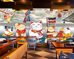 Vente en gros Personnalisé moderne sushi japonais classique peint à la main restaurant sushi restaurant fond d'écran papier peint papel de parede mur papier décor à la maison