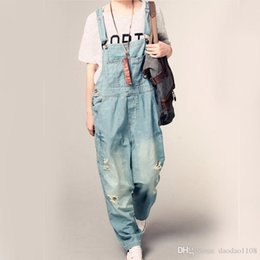 $enCountryForm.capitalKeyWord Australia - Winter Spring Washed Ripped Women Jeans Student style With Pocket Casual Overalls Plus szie pants Blue color L-4XL