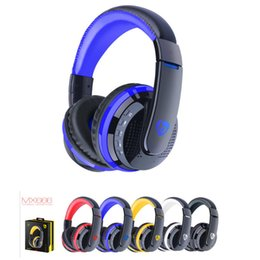 Discount micro headphones wireless Over Ear Bass Stereo Bluetooth Headphone Wireless Headset Support Micro SD Card Radio Microphone MX666