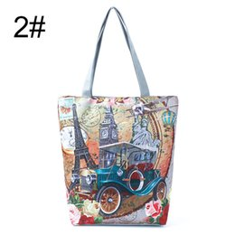 $enCountryForm.capitalKeyWord Australia - designer handbags Eiffel Tower Printed Women's Ferris Wheel Dutch Windmill Printed Women's Shoulder Bag Fa$3 Women Bag