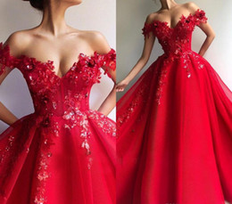 Holiday Evening Gowns Floor Length Australia - Sexy Red Prom Dresses 2019 Latest A Line Off Shoulder Floor Length Pageant Holidays Graduation Wear Formal Evening Party Gowns Plus Size