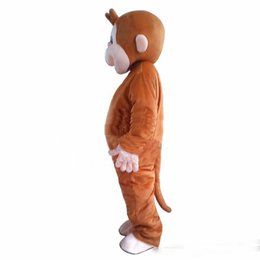 $enCountryForm.capitalKeyWord UK - Brand New high quality Curious George monkey Adult mascot costume fancy party dress Halloween costume summer hot sale