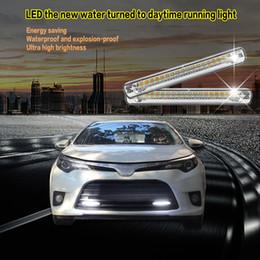 $enCountryForm.capitalKeyWord NZ - 2 Piece Universal COB DRL LED Daytime Running Lights Car Lamp External Lights Auto Waterproof Car Styling Led DRL Lamp