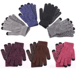 christmas wool mittens UK - Free DHL 11 Styles Knitting Touch Screen Gloves 2019 Women Winter Warm Wool Gloves Antiskid Knitted Anti-Slip Mittens Christmas Gifts M338F
