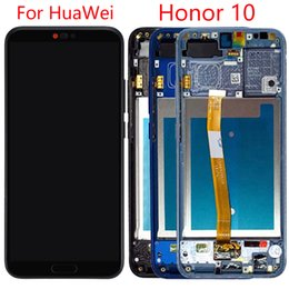 Honor screen replacement online shopping - Original LCD For HuaWei Honor Screen With Frame Fingerprint Honor LCD Display Digitizer Assembly Replacement Repair