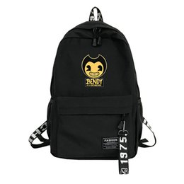 Chocolate Machines UK - Bendy and The Ink machine backpack schoolbags for teenage backpack High student bag black printing travel laptop