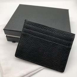 Graded coins online shopping - New luxury men s leather credit card holder fashion card sets thin pocket wallet card slot dust bag high grade packaging box