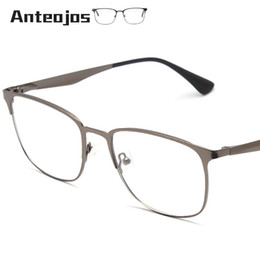 3d7b27f5d0f ANTEOJOS Women Men s Eyeglass Frame 2019 Luxury Brand Spring Hinge Square  Metal Myopia Eye Glass Prescription Spectacle Oculos
