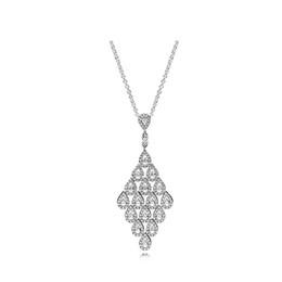 $enCountryForm.capitalKeyWord UK - Luxury designer jewelry Women Wedding Pendant Chain Necklace Original box for Pandora 925 Sterling Silver CZ Diamond Pendant Necklace