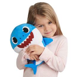 $enCountryForm.capitalKeyWord NZ - 30CM Baby SHARK Plush Toys 6 Styles 3 Colors 12inch Music English Singing Stuffed&Plush Dolls Sing Songs Music Shark Toy Party Birthday GIFT