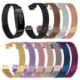 Replacement bRacelet watch bands online shopping - Magnetic Loop Metal Band For Fitbit Inspire HR Universal Wristband Stainless Steel Watch Bracelet Mesh Strap Replacement