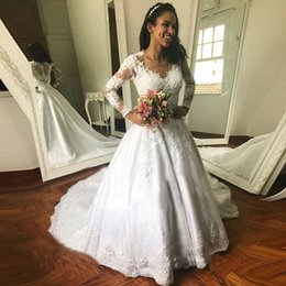 $enCountryForm.capitalKeyWord NZ - Vestidos De Novia 2019 Wedding Dress Luxury White Long Sleeves Lace Appliques Wedding Dresses Custom Made Gowns Robe De Mariee