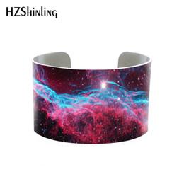 $enCountryForm.capitalKeyWord Australia - New Arrival Beauty Galaxy Nebula Bangle Hand Craft Silver Cuff Bracelet Gift for Girls Men Women Jewelry Accessory