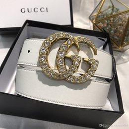 Venta al por mayor de Incluye caja original Cinturón de diseño 2019 Hombres y mujeres Cinturón de moda Mujeres Cinturón de cuero genuino Más color Hebilla de cuero z60