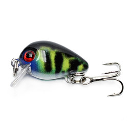 Fishing Lures 2g UK - 30mm 2g Crazy Wobblers Mini Topwater Crankbait Artificial Japan Hard Bait Pesca Floating Fishing Lures Bass Pesca Ww338