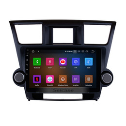 Discount toyota highlander gps android - 10.1 inch HD Touchscreen Android 9.0 Car Stereo GPS Navigation for 2009-2014 Toyota Highlander with Buletooth support Re