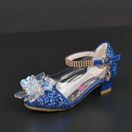 $enCountryForm.capitalKeyWord Australia - 2019 New Girls Single shoes Korean Child Princess Crystal Glass Child High heels Student Banquet Performance shoes Size 26-37